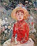Berthe Morisot: Fiatal lány kalitkával (id: 1894) vászonkép óra