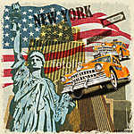 New York vintage poster. (id: 19194)