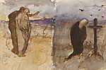 Mednyánszky László: Temetőben (tanulmány) (id: 20094) poszter