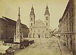 Március 15 (Eskü) tér, Belvárosi Nagyboldogasszony Főplébánia (1880-1890 között) (id: 20194) falikép keretezve