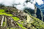 Machu Picchu, az ősi inka város Andoknál, Peru (id: 5994) falikép keretezve