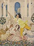 Gerda Wegener: Pillangó vadászat (id: 18195) vászonkép óra