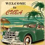 Welcome to Cuba retro poster (id: 19195)