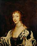 Anthony van Dyck : Queen Henrietta Maria portréja (id: 19595) falikép keretezve