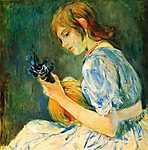 Berthe Morisot: A mandolin (id: 1995) tapéta