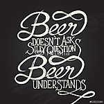 BEER UNDERSTANDS - mondat - táblák (id: 6895) falikép keretezve