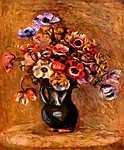 Pierre Auguste Renoir: Csendélet kökörcsinnel (id: 1396) többrészes vászonkép