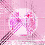 Abstract background in pink with a star and a circle in the middle.. vászonkép, poszter vagy falikép
