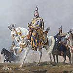 Feszty Árpád: Árpád fejedelem  (Magyarok bejövetele részlet) (id: 18596)