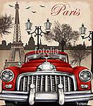 Paris retro poster (id: 19196) többrészes vászonkép