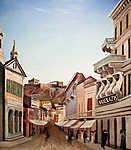 Csontváry Kosztka Tivadar: Athéni utcakép (id: 19696) falikép keretezve