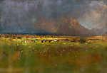 Mednyánszky László: A Tátra vihar előtt (id: 20096) poszter