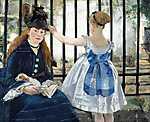 Edouard Manet: A vasút (1873) (id: 2796) poszter