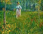 Vincent Van Gogh: Hölgy a kertben (id: 396) tapéta