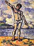 Paul Cézanne: Úszó kitárt karral (id: 496) többrészes vászonkép