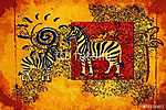 Afrika retro vintage stílusban (id: 7396) poszter