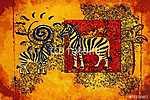 Afrika retro vintage stílusban (id: 7396)