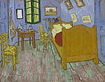 Vincent Van Gogh: Van Gogh hálószobája Arles-ban - verzió 3. - 2. színváltozat (id: 10097) tapéta