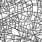 Abstract seamless pattern of a fictional city map vászonkép, poszter vagy falikép