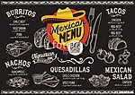 Mexican menu restaurant, food template. (id: 13697) többrészes vászonkép