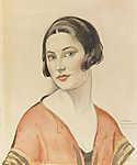 Gerda Wegener: Női portré (id: 18197) vászonkép óra