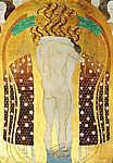 Gustav Klimt: Beethoven fríz (részlet) (id: 19797) vászonkép óra