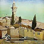 Csontváry Kosztka Tivadar: Az Olajfák hegye Jeruzsálemben (id: 20297) poszter