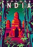 Utazás poszter - India (id: 20997) vászonkép