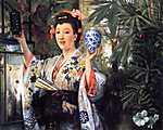 James Tissot: Fiatal japán nő (id: 2397) falikép keretezve