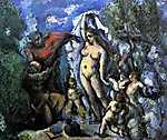 Paul Cézanne: Szent Antal kisértése (id: 497) vászonkép