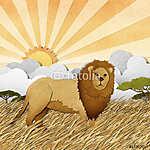Az oroszlán újrahasznosított papír alapú (id: 6197) tapéta
