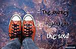 Az út felébreszti a lelket: inspiráló idézet (id: 6997) vászonkép