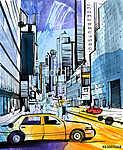 Taxi Driver (id: 10398) vászonkép óra
