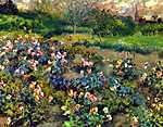 Pierre Auguste Renoir: Rózsakert (id: 1398) tapéta