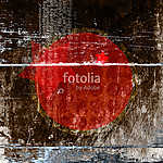 Abstract background with a red circle and a star in the middle.. vászonkép, poszter vagy falikép