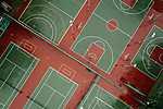 Teniszpályák - drónkép (id: 16898) vászonkép óra