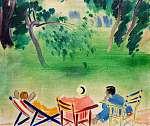 Vaszary János: A kertben (id: 19598) többrészes vászonkép