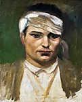 Mednyánszky László: Sebesült (id: 20098) falikép keretezve