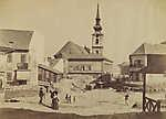Tabán, Szarvas tér a Döbrentei tér felé nézve (1894) (id: 20198) falikép keretezve