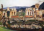 Csontváry Kosztka Tivadar: A kis Taormina (1904) (id: 20298) vászonkép