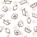 Koronák rózsaszín pöttyökkel tapétaminta (id: 21498) tapéta