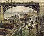 Claude Monet: Szenesemberek (1875 körül) (id: 2998) többrészes vászonkép