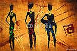 afro motívum etnikai retro vintage (id: 7298) poszter