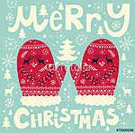 Karácsonyi piros kesztyűk (id: 11899) tapéta