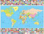 Színes világtérkép és minden világzenei gyűjtemény (id: 11999)