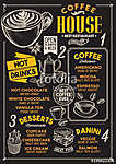 Coffee restaurant menu. Vector drink flyer for bar and cafe. Des (id: 13699) vászonkép