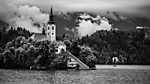 Bled tó, Szlovénia (id: 17599) falikép keretezve