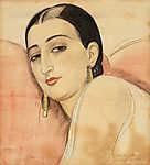 Gerda Wegener: Spanyol hölgy portréja (id: 18199) vászonkép óra