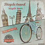 Bicycle tour poster. (id: 19199)