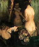 Vaszary János: Nő a tükör előtt (id: 19599) tapéta